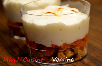 Verrine tomate séchée, fromage blanc