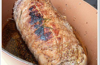 Rôti de porc à la moutarde ancienne et au Porto rouge