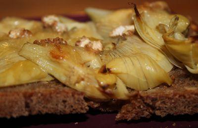 Tartine artichaut brie de melun