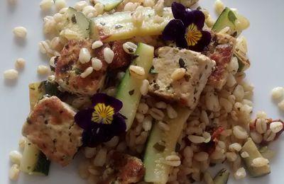 Blé au Tofu et courgettes