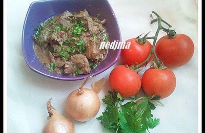 Kebda mchermla (foie de mouton)