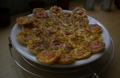 Mini-quiches à la tomate