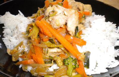 Poulet aux légumes et champignons chinois