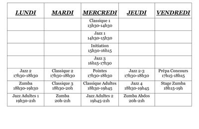PLANNING COURS 2014-2015