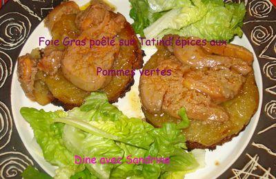 Du Foie Gras Poêlé sur Tatin de pommes vertes