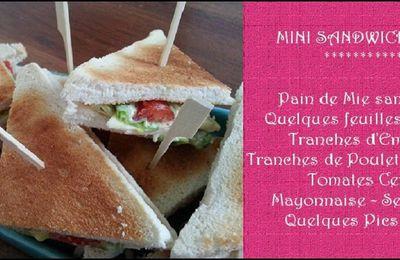 MINI CLUB SANDWICHS.....ET PETIT COUP DE GUEULE!!!!!!