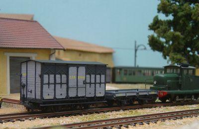 """Les wagons de marchandise CFD en HOm par """" Trains d'Antan"""""""