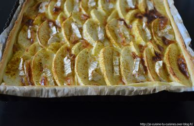 TARTE POMMES - CAMEMBERT - CURRY