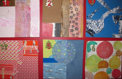 Mon challenge : collage-mixedmedia cartes