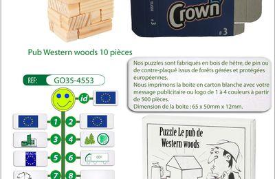 Casse-tête publicitaire en bois le pub western woods GO35-4553
