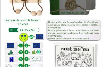 Casse-tête publicitaire en bois les noix de coco de Tarzan GO35-2240