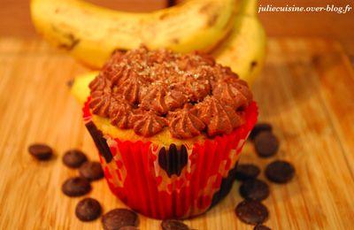 Cupcake banane/chocolat