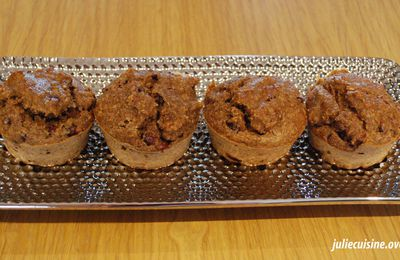Muffins aux sons et grenade