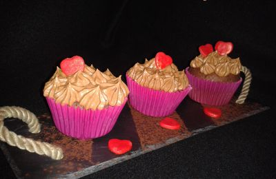Cupcakes romantico-gourmands