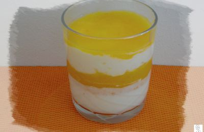 Verrine light pêches et fromage blanc