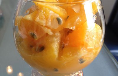 Verrine d'hiver: orange / fruits de la passion