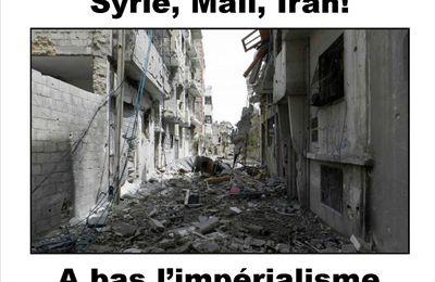 Mali ou Syrie: deux cibles de l'impérialisme français Le point de vue du Comité Anti- Impérialiste (26 novembre 2012)