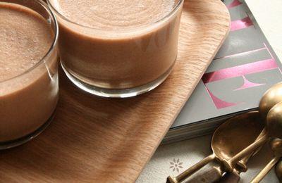 ▲ Mousse légère banane – chocolat [ Philadelphia Milka ]