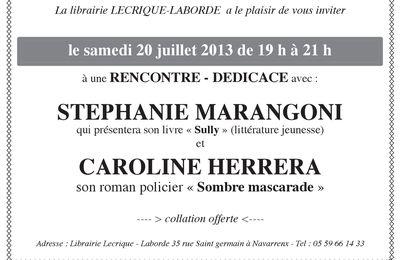 Stephanie Marangoni et Caroline Herrera en signature le 20 juillet
