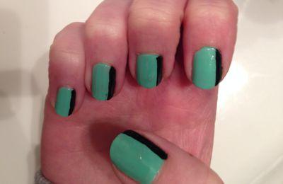 nail art bicolore fastoche !!!