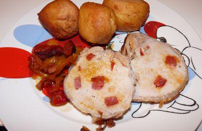 Roti de porc au chorizo