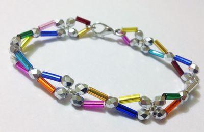 Bracelet Perles Tubes et Facettes - Facile