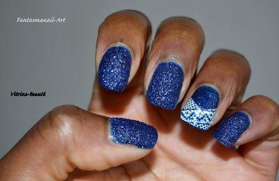 bleu nuit effet sable top Coaté^^