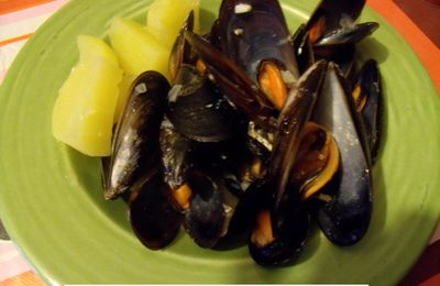 moules crème moutarde (simple)