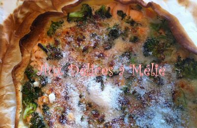 Quiche Saumon-Brocoli