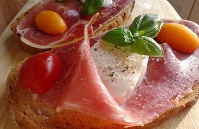 Tartines Jambon / Mozza