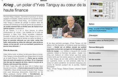 Yves Tanguy dans Ouest-France