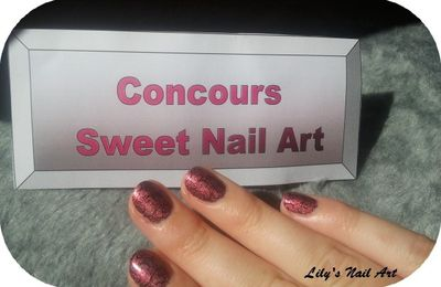 Participation concours stamping Sweet Nail Art