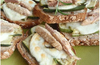 Bruschetta de courgettes