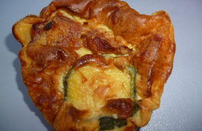 mini Quiche sans pâte courgettes et lardons
