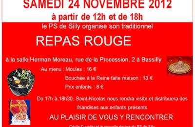 Repas rouge à Bassilly
