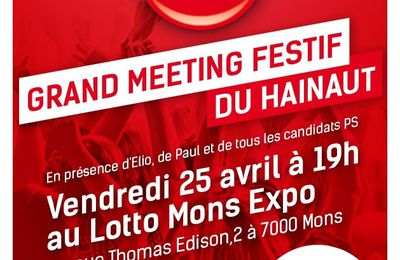 Grand meeting festif du Hainaut, le 25 avril à 19h