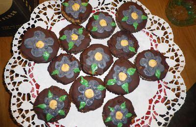 Gâteaux au yaourt pépites de chocolat et framboises