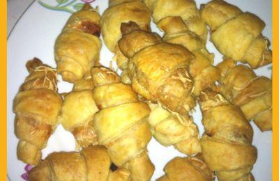 Mini croissants salés double version