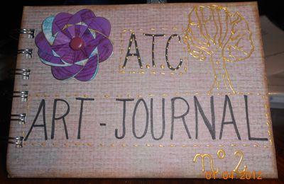 """atc art-journal n°2 """"les arbres""""et carnet """"magie des couleurs"""""""