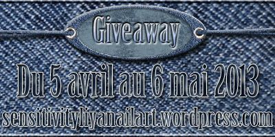 Giveaway Sensitivity Liya nail art