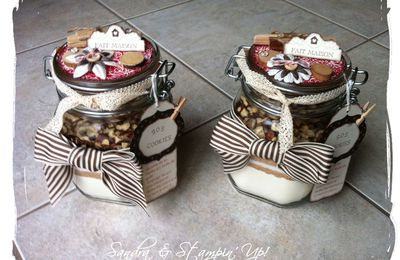 Pots SOS Cookies et Brownies avec Stampin'Up!