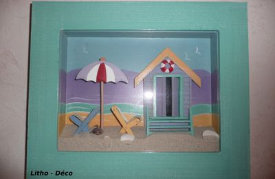 Trouvaille ! Tableau ambiance plage