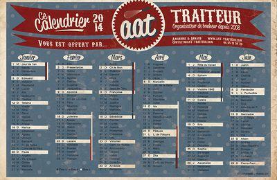 Calendrier 2014 Traiteur AAT