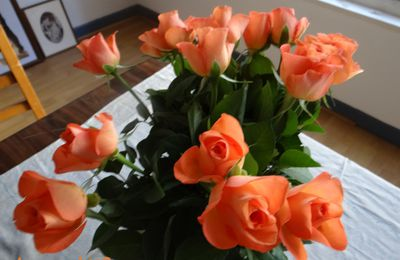 bouquet de roses orange
