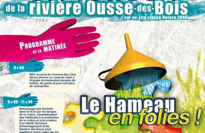 """Nettoyage """"en Folie"""" de la rivière Ousse-des-Bois, 7 avril"""
