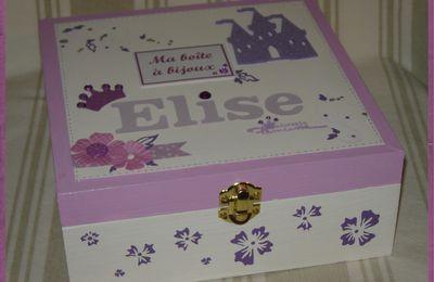 Boîte à bijoux en violet