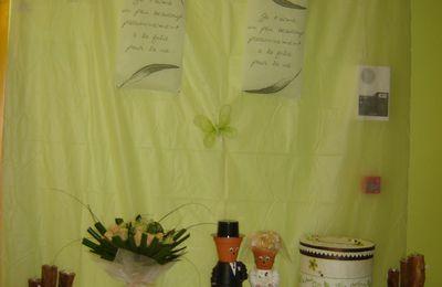Mariage : déco de salle en vert et ivoire