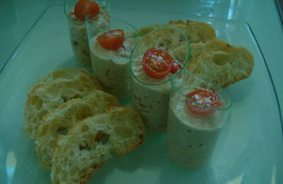 Verrine thon tomate cerise