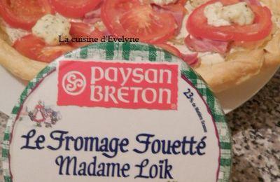 Tarte tomate-jambon-fromage à tartiner