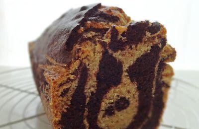 Gâteau marbré chocolat & noisette {sans gluten & sans lait}